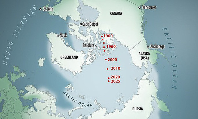 Bắc Cực trôi nhanh từ Canada sang Nga, trái đất sắp đảo ngược? - Ảnh 2.