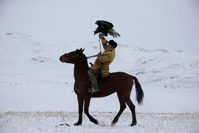 Những chú đại bàng vàng dũng mãnh bên cạnh thợ săn Kazakhstan - Ảnh 3.