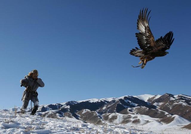 Những chú đại bàng vàng dũng mãnh bên cạnh thợ săn Kazakhstan - Ảnh 7.