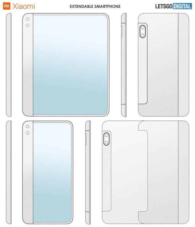 Teléfono inteligente de desplazamiento de una cara patentado por Xiaomi - Foto 1.