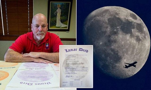 Thương vụ thế kỷ: Hơn 30 năm lách luật, triệu phú Mỹ kiếm bộn tiền từ bán đất Mặt Trăng? - Ảnh 1.