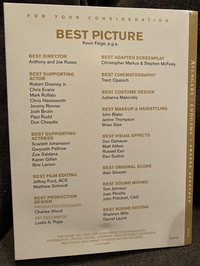 Marvel chính thức gửi screener Avengers: Endgame cho hội đồng Oscar 2020, cuộc chạy đua tượng vàng bắt đầu! - Ảnh 3.