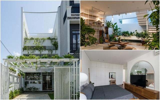Ngôi nhà ở ngoại ô Sài Gòn thoáng mát với mặt tiền ấn tượng của gia đình 4 người - Ảnh 1.