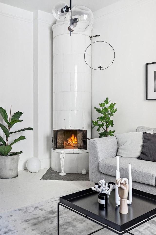 Học cách bài trí nhà đẹp lại rộng thênh thang như căn hộ màu trắng rộng 62m² dưới đây - Ảnh 2.