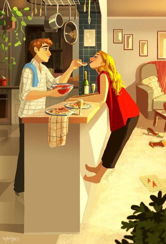 Bộ tranh Tình yêu có màu gì sẽ khiến bạn bất giác mỉm cười vì quá ngọt ngào - Ảnh 2.