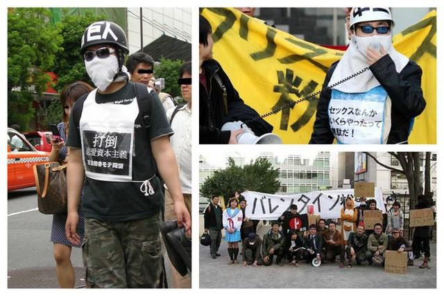 Các thanh niên Nhật ế lâu năm ra đường biểu tình đòi hủy ngày Valentine - Ảnh 2.