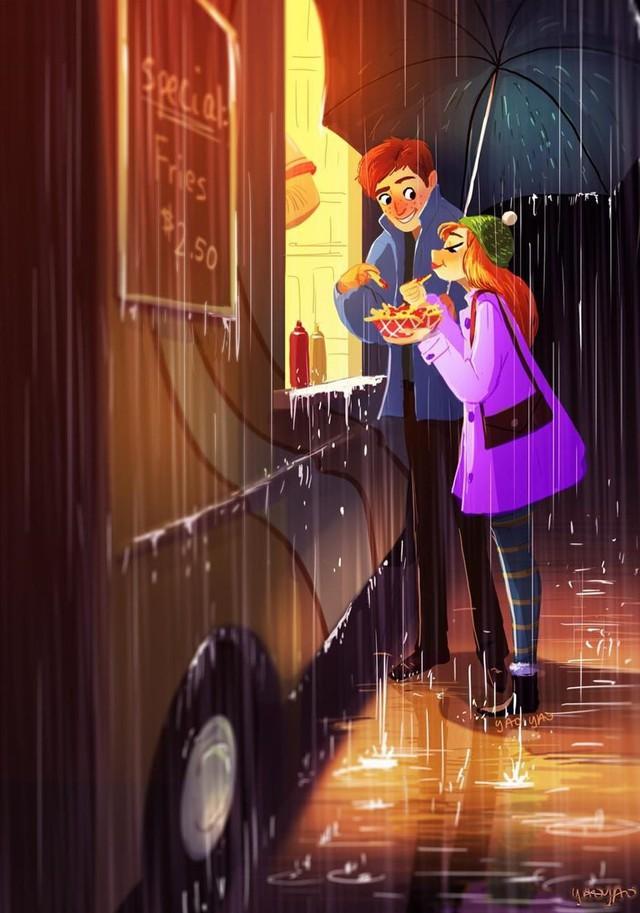 Bộ tranh Tình yêu có màu gì sẽ khiến bạn bất giác mỉm cười vì quá ngọt ngào - Ảnh 4.