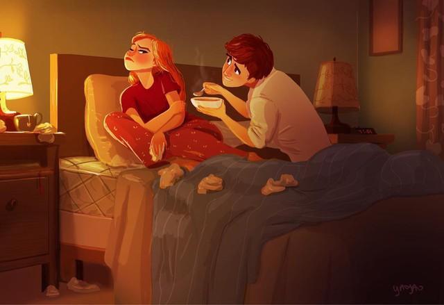 Bộ tranh Tình yêu có màu gì sẽ khiến bạn bất giác mỉm cười vì quá ngọt ngào - Ảnh 6.