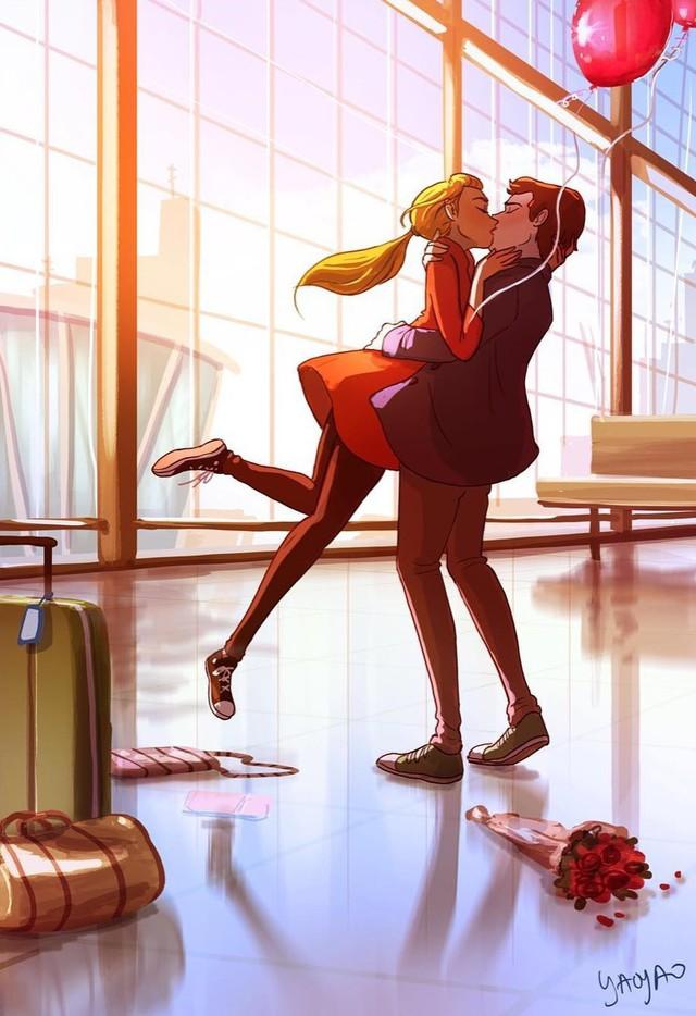 Bộ tranh Tình yêu có màu gì sẽ khiến bạn bất giác mỉm cười vì quá ngọt ngào - Ảnh 10.