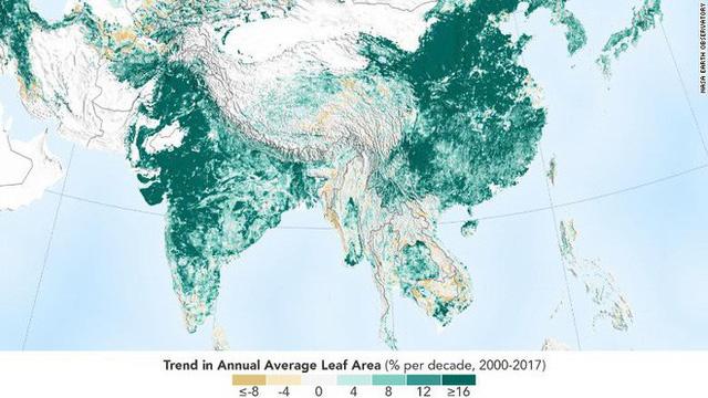 NASA nói chính Trung Quốc và Ấn Độ đang làm hành tinh chúng ta xanh hơn, nhưng thế là chưa đủ - Ảnh 1.