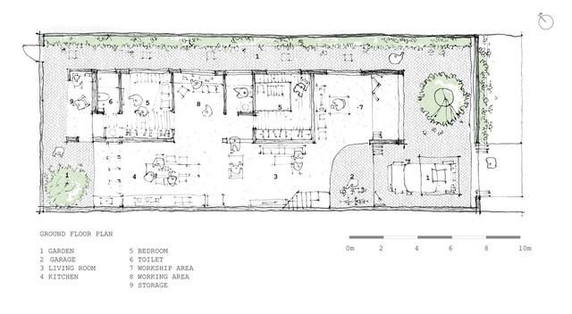 Ngôi nhà mái ngói đất nung, phong cách cổ xưa độc đáo ở TP HCM - Ảnh 13.