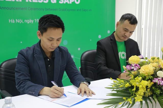 Sapo bắt tay tích hợp dịch vụ giao hàng nhanh GrabExpress - Ảnh 1.