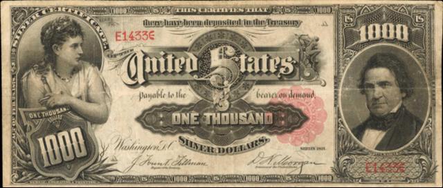 Tờ tiền mệnh giá 1.000 USD có thể được bán giá triệu đô - Ảnh 1.