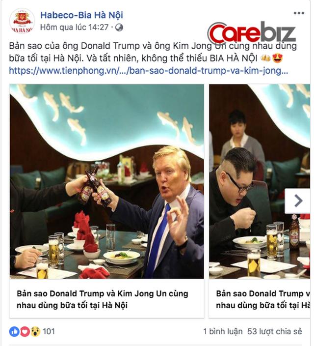 Các ông lớn F&B tung chiêu Marketing nhân hội nghị Trump - Kim: Bia Sài Gòn tinh tế, Coca-Cola nhân văn, còn Bia Hà Nội vẫn bổn cũ soạn lại - Ảnh 2.