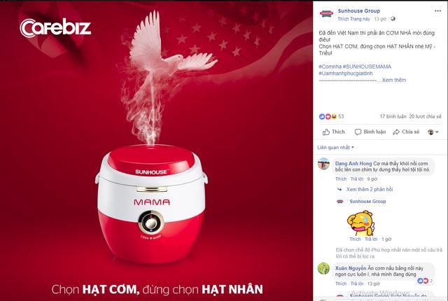 Chậm chân nhưng cao tay, doanh nghiệp của Shark Phú tung chiêu marketing nhân hội nghị Mỹ - Triều kèm lời nhắn: Chọn HẠT CƠM, đừng chọn HẠT NHÂN! - Ảnh 1.