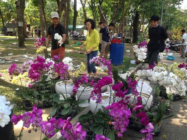 Tiểu thương vứt hàng trăm chậu hoa ế vào xe rác vì sợ hôi của - Ảnh 10.