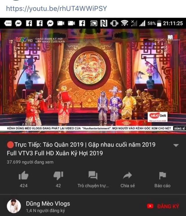 Táo quân 2019 bị vi phạm bản quyền trên YouTube và Facebook - Ảnh 1.