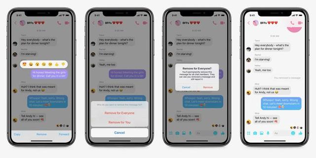 Facebook Messenger đã cho phép xóa tin nhắn đã gửi, nhưng chỉ trong 10 phút - Ảnh 1.
