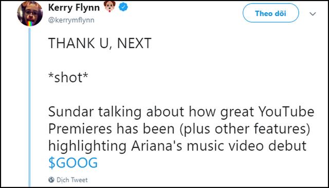 thank you, next được CEO Google nức nở khen khiến ai cũng ngạc nhiên, phải chăng ông cũng là fan Ariana Grande? - Ảnh 2.