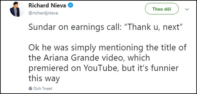 thank you, next được CEO Google nức nở khen khiến ai cũng ngạc nhiên, phải chăng ông cũng là fan Ariana Grande? - Ảnh 3.