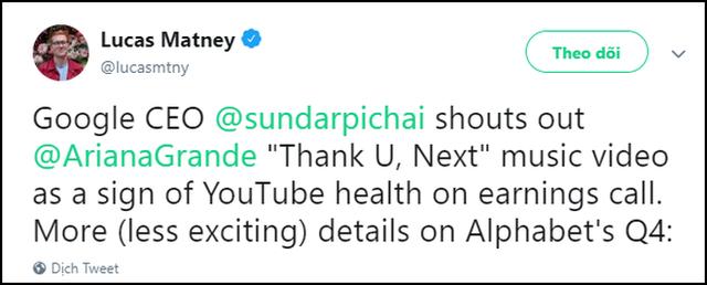 thank you, next được CEO Google nức nở khen khiến ai cũng ngạc nhiên, phải chăng ông cũng là fan Ariana Grande? - Ảnh 4.