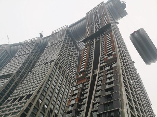 Khu tổ hợp với cao ốc nằm ngang của Trung Quốc sắp xây xong - Ảnh 4.