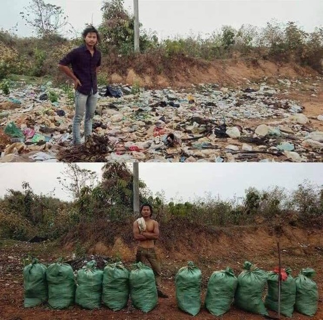 """Sự thật về """"thử thách dọn rác"""" đang lan truyền chóng mặt trên mạng - Ảnh 2."""