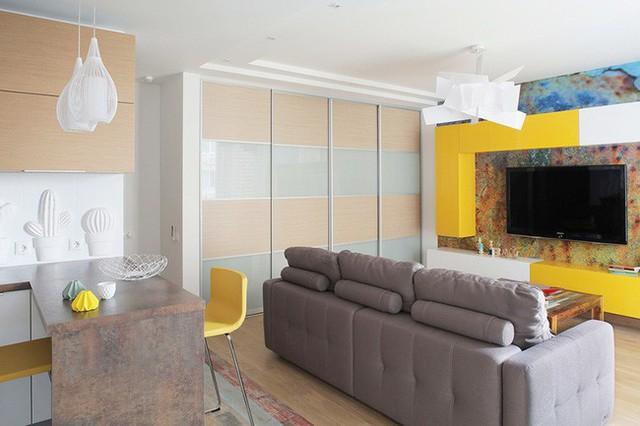 Cách sử dụng màu sắc giúp căn hộ vỏn vẹn 25m² này đẹp đến bất ngờ - Ảnh 6.