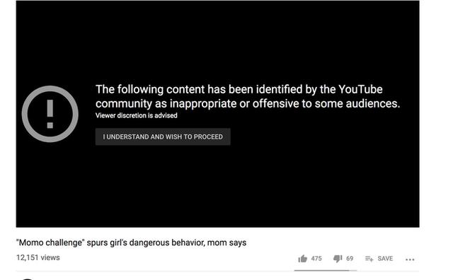 YouTube đang xoá bỏ tất cả các video về yêu quái Momo - Ảnh 1.