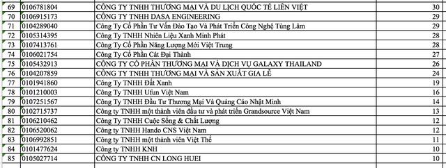 Hà Nội nêu tên 86 doanh nghiệp nợ thuế, phí và tiền thuê đất - Ảnh 3.