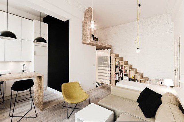 Nhà nhỏ bỗng rộng thênh thang nhờ thiết kế thông minh - Ảnh 8.