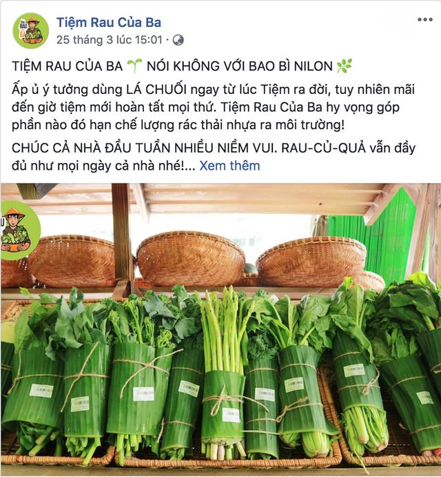 Sau Chiang Mai, các cửa hàng rau ở Việt Nam cũng bắt đầu chiến dịch hạn chế túi nilon - Ảnh 1.