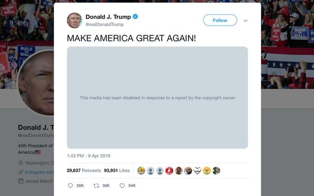 Twitter xóa video của Tổng thống Donald Trump vì vi phạm bản quyền nhạc phim The Dark Knight Rises - Ảnh 2.