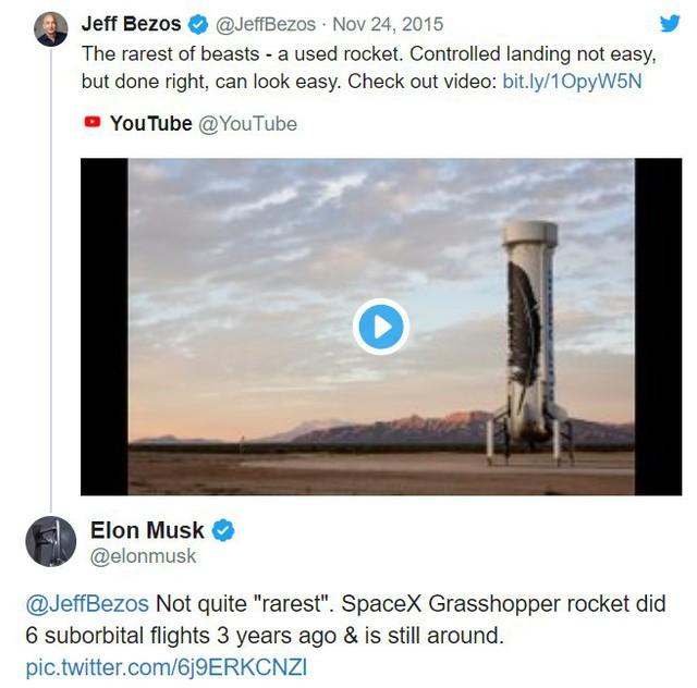 Elon Musk vừa 'troll' Jeff Bezos trên Twitter, gọi ông chủ Amazon là 'đồ bắt chước' - Ảnh 2.