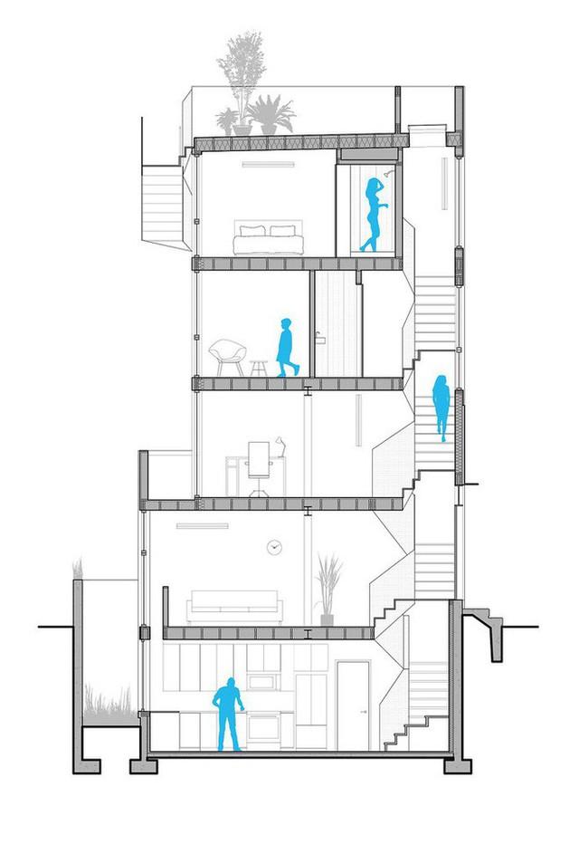 Ngôi nhà 32m² thiết kế như tòa cao ốc mini khiến ai nấy đều trầm trồ - Ảnh 14.