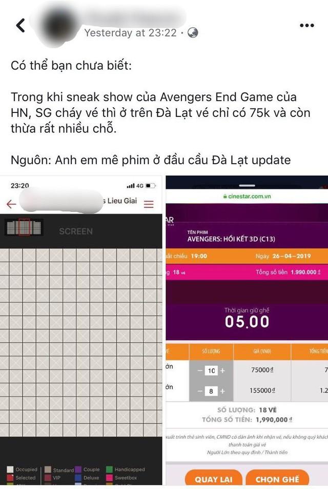Cuộc chiến vé Endgame: Cả thế giới bất chấp vung tiền mua bằng được, fan Việt thì lên... Đà Lạt săn vé rẻ - Ảnh 6.