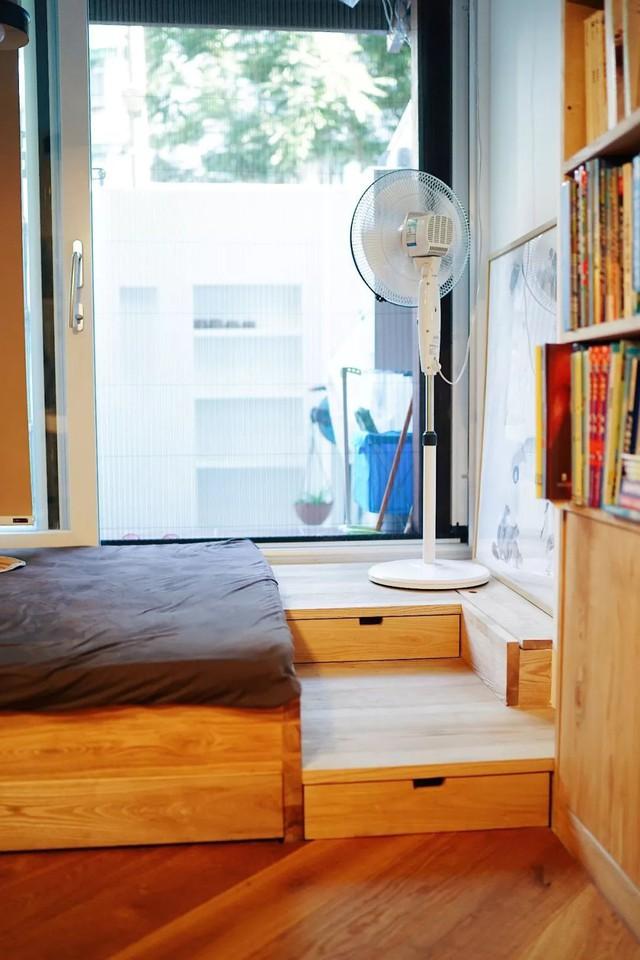 Căn hộ 27m² cũ rích, vừa hẹp vừa dài biến hình thành không gian hiện đại dành cho gia đình 5 người sau cải tạo - Ảnh 14.