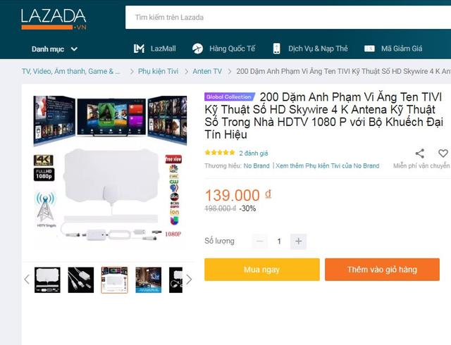 """Tái diễn chiêu quảng cáo """"nổ"""" lừa bán anten truyền hình trên Shopee, Lazada, AliExpress - Ảnh 4."""