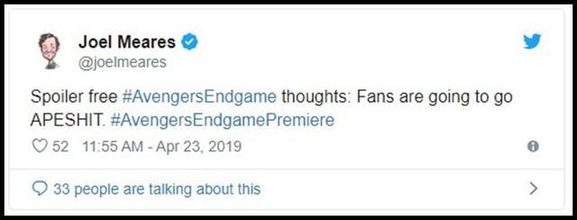 Những khán giả đầu tiên xem Endgame bật khóc: Phim bom tấn đỉnh cao nhất, xúc động nhất từ trước tới nay! - Ảnh 3.