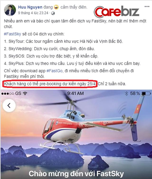 Từng gây shock khi tuyên bố kết nối cả trực thăng thay vì chỉ ô tô, xe máy, nhưng đúng ngày hẹn mở ứng dụng Fastgo thì chẳng thấy FastSky ở đâu! - Ảnh 1.
