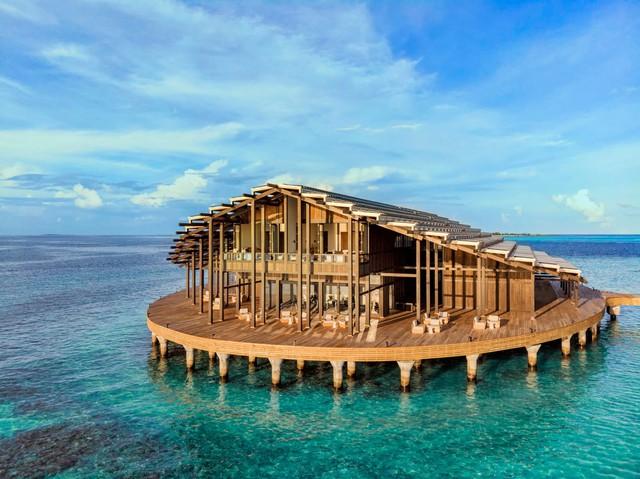 Cận cảnh hòn đảo sang trọng nhất thế giới, chỉ dành cho người lớn ở Maldives - Ảnh 1.