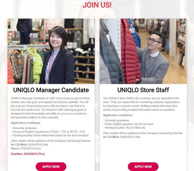 Uniqlo rục rịch tuyển quân, chuẩn bị mở cửa hàng đầu tiên ở TPHCM - Ảnh 2.