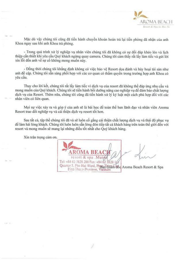 """Khoa Pug lên tiếng vụ Aroma Resort: Đã nhận lời xin lỗi từ Aroma, mong cộng đồng đừng tẩy chay, """"tiệt đường sống của họ"""" - Ảnh 3."""