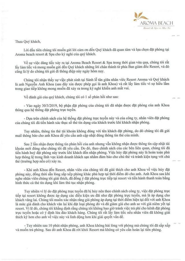 """Khoa Pug lên tiếng vụ Aroma Resort: Đã nhận lời xin lỗi từ Aroma, mong cộng đồng đừng tẩy chay, """"tiệt đường sống của họ"""" - Ảnh 2."""