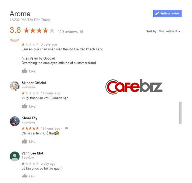 Hậu scandal Aroma Resort: Cộng đồng mạng tiếp tục chấm 1 sao cho trung tâm tiếng Anh, khách sạn tận Hà Nội chỉ vì trùng tên - Ảnh 1.