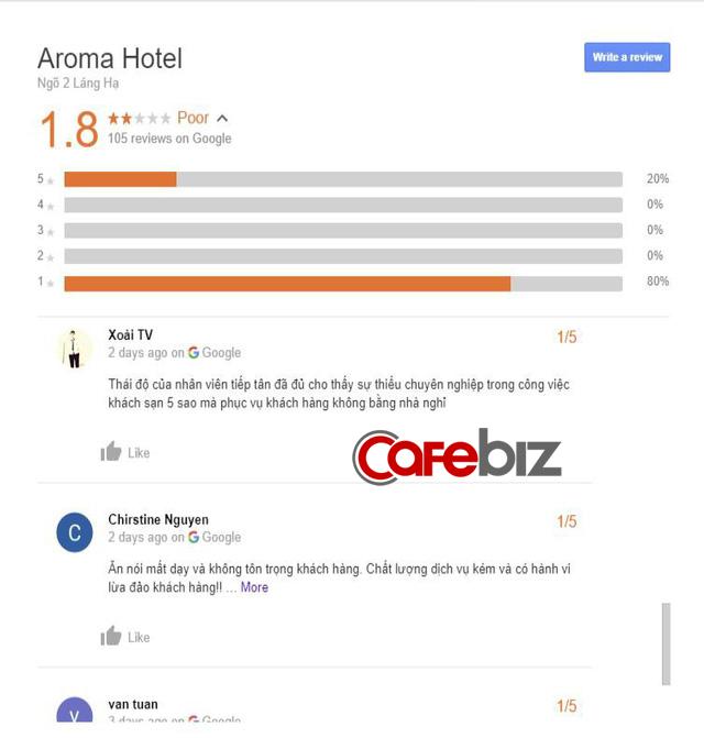 Hậu scandal Aroma Resort: Cộng đồng mạng tiếp tục chấm 1 sao cho trung tâm tiếng Anh, khách sạn tận Hà Nội chỉ vì trùng tên - Ảnh 2.