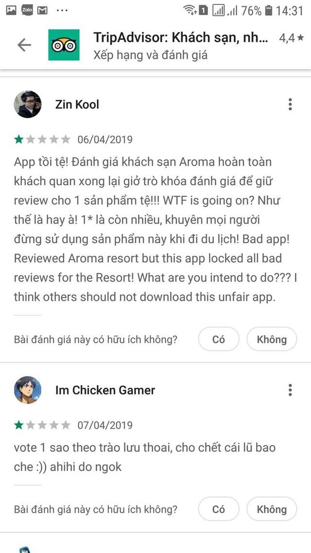 Khóa đánh giá về Aroma để đảm bảo khách quan, dân mạng quá khích vào cả App Store rate 1 sao cho ứng dụng TripAdvisor - Ảnh 5.