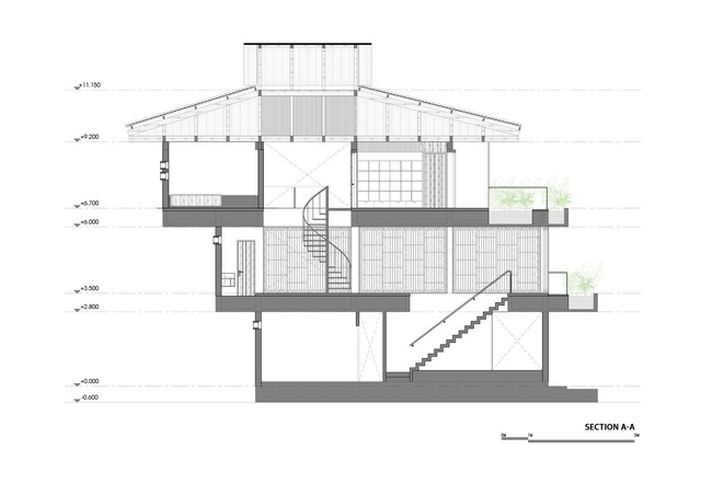 [Ảnh] Ngôi nhà hình bậc thang, phá vỡ mọi quy tắc xây dựng ở Vĩnh Phúc - Ảnh 2.