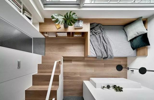 Căn hộ của cô gái độc thân chỉ 17.6m² mà ngỡ như 76m² với cách thiết kế thông minh - Ảnh 7.