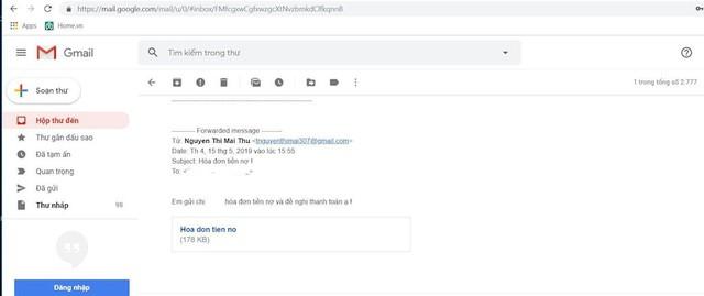 """Cảnh báo hình thức tấn công qua email """"đòi nợ"""", phát tán virus để chiếm máy người dùng - Ảnh 1."""
